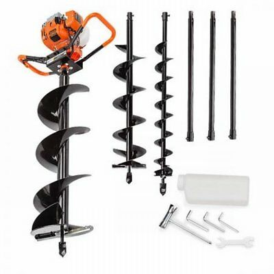 NEW 75cc Pro-Series Baumr-AG Motor Petrol Post Hole Digger Drill Auger BPX-800