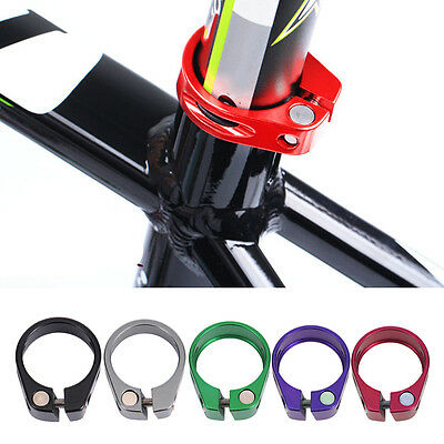 34.6mm Cycling Clip Bicycle Quick Release QR Seat Post Bolt Binder Clamp Alloy