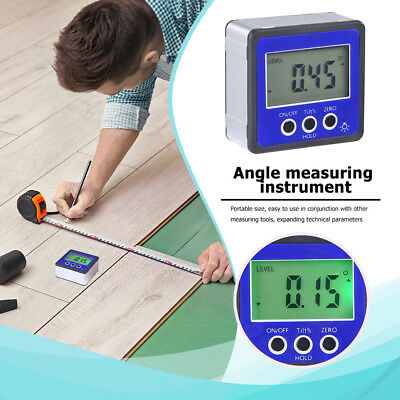 Digital Box Gauge Angle Protractor Level Inclinometer Magnetic Base (0-360°) ske