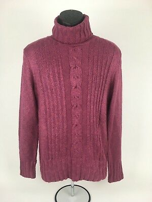 Dress Barn Red Turtle Neck women's pull over Long sleeve sweater size  Large