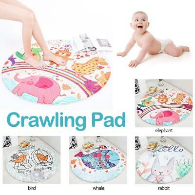 Portable Storage Bag Soft Cotton Round Baby Kids Play Mat Rug Crawling Blanket