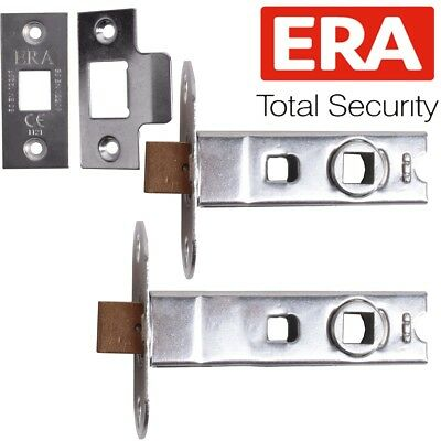 "10 x ECLIPSE 2.5 INCH  2.5/"" TUBULAR BOLT-THROUGH LATCHES NICKEL PLATED 63mm"