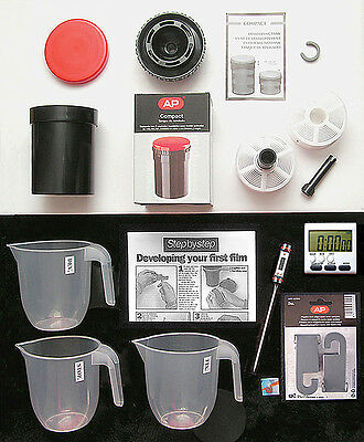 "Film  Processing  Kit  For 35Mm & 120 Film  ""starter Pack With Ap Dev  Tank"" New"