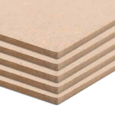 vidaXL 5x MDF Sheets Rectangular 120x60cm Blank Plain Board Crafting Material