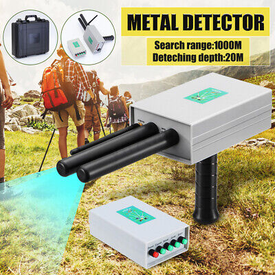 AKS Metal Gold Detector Scanner Finder Silver Copper Dual Probe Depth 1000M New