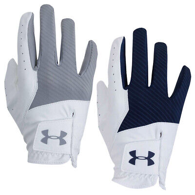 Under Armour Mens 2019 UA Medal Synthetic Textured Golf Gloves - LH