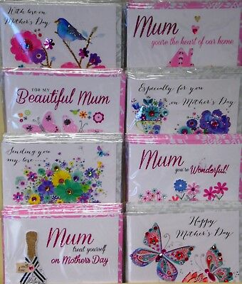 48 MOTHER'S DAY HANDMADE CARDS just 49p. TRUE LUXURY! 8 DESIGNS X 6 'IN BLOOM'