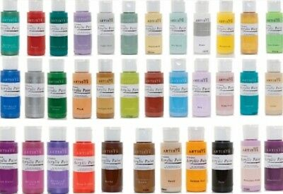 Docrafts Artiste All Purpose Acrylic Paint 59Ml Many Colours To Choose From