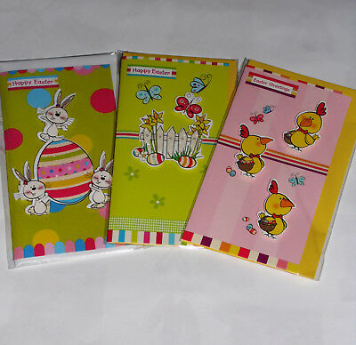"HANDMADE EASTER CARDS X 18, JUST 25p, 7"" x 3""   ( B3"