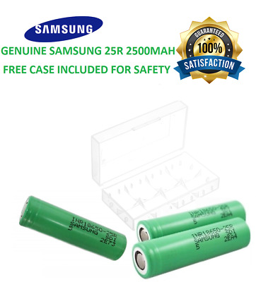 100% Genuine SAMSUNG 25R 18650 2500mAh 20 35A INR IMR Rechargeable Vape Battery