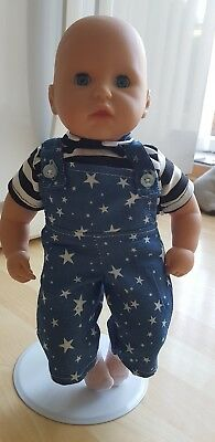 Brand New My First Baby Annabell/ Brother 14 inch doll 3 Piece Dungaree Set