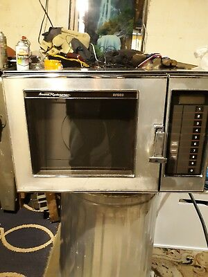 (2 )Amana Commercial Microwave 220v stainless steel, countertop, clean