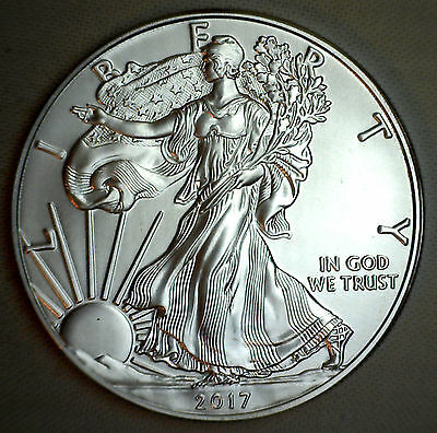 2017 BU American Silver Eagle One Dollar Uncirculated ASE US Mint Bullion Coin