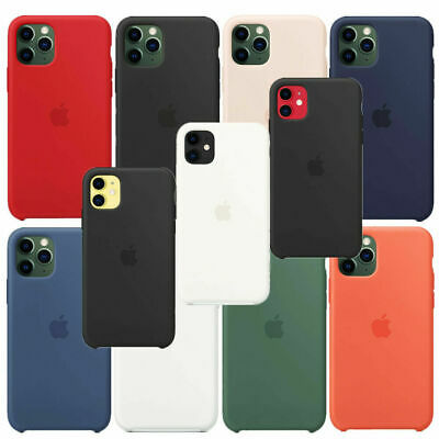 Funda Para Apple iPhone XR XS 11 Pro Max Original carcasas de Silicona Genuina