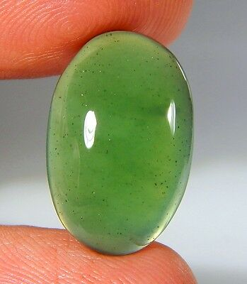 08 Ct Natural Ring Size Deep Green Serpentine  Jade Oval Cabochon  Gemstone A139