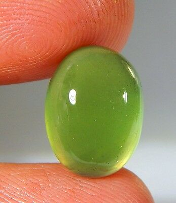 08 Ct Natural Ring Size Deep Green Serpentine  Jade Oval Cabochon  Gemstone A179