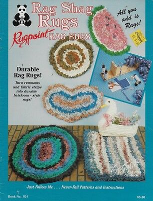 RAG SHAG RUGS.. Rugpoint Rag Rugs Pattern Suzanne McNeill Durable Rag Rugs