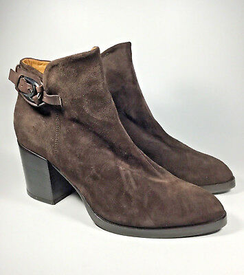 2eb896ef3c55a M3420L New Women s Alberto Fermani Brown Suede Ankle Bootie US ...