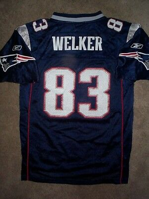 REEBOK New England Patriots WES WELKER nfl Jersey YOUTH KIDS BOYS (L-LARGE) 20ff97ed4