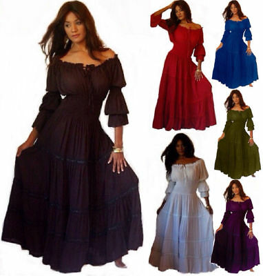 Mexican Peasant Dress - Long Sleeve With Skirt Trim - LotusTraders Plus A1290