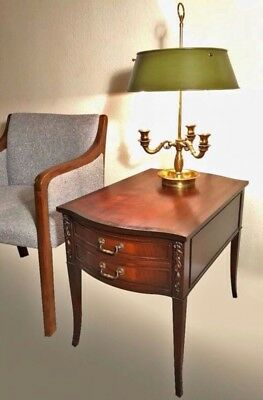 2 Imperial genuine mahogany end tables