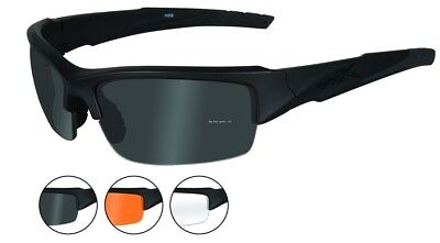 af71b1b132b WILEY X WX Valor Sunglasses Polarized Grey Lens Kryptic Typhon Frame ...