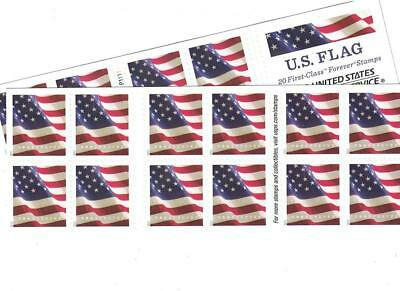 USPS US-Flag-Forever-Stamps-40 US Flag Forever Stamps - 40 (Two Books of 20)...