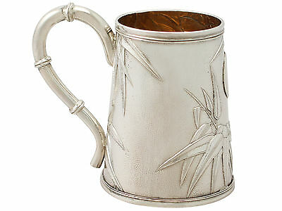 Antique Chinese Export Silver Christening Mug 1900's Height 9cm