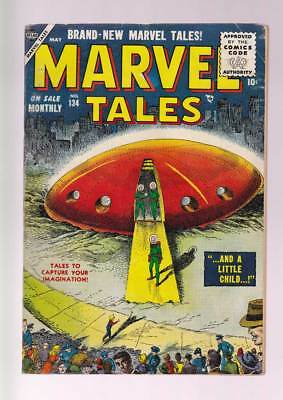 Marvel Tales # 134  And a Little Child...!  grade 6.0 scarce Atlas book !