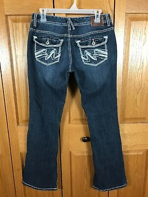 89a6aedc2b447a MAURICES WOMEN'S DARK Wash Stretch Bootcut Distressed Jeans Size 9 ...