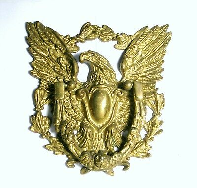 American Eagle Door Knocker Gold colorl Original Home Decor Antique Cast Iron