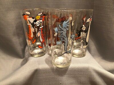 Vintage 1973 Pepsi Collector Series Warner Bros Looney Toons Lot of 7 Glasses