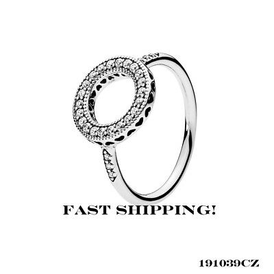 1ff3e6987 Authentic Pandora sterling silver Hearts of Pandora Halo Ring,191039CZ 54  mm (7)