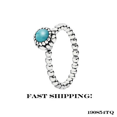 36a639186 DECEMBER BIRTHDAY BLOOMS Authentic PANDORA Silver/TURQUOISE Stone ...