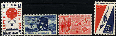 US Scott # C53 C54 C55 & C56  (1959 Airmail) SET of 4  MNH ****FREE SHIP****
