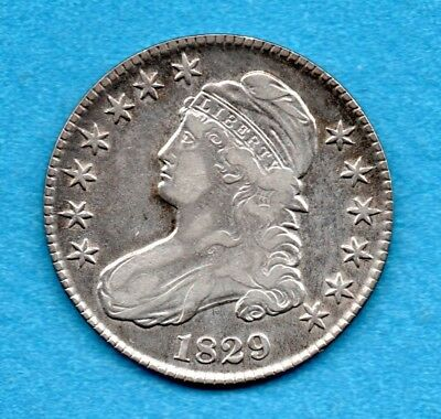 1829 Capped Bust Half Dollar Us Coins