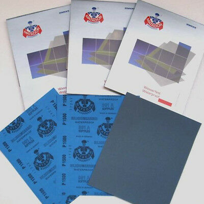 2x Wet or Dry Sandpaper 9x11'' 80/120/320/400/600/800/1000/1200/1500/2000 Grits