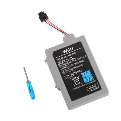 DIY 3.7V 3600mAh Rechargeable Battery Pack for Nintendo Wii U Gamepad AC1748