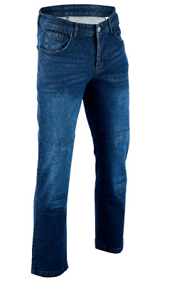 Mens Motorbike Jeans Motorcycle Denim Trousers with Armoured  paded jeans