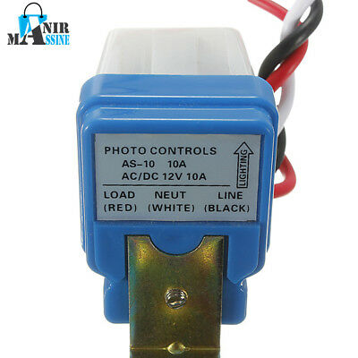 Photocell Street Light Photoswitch Sensor Auto On Off Switch DC 12V US STOCK