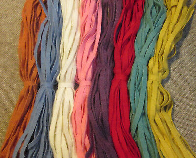 8 Color Mini Stash Starter 200 Hand and Mill dyed  #8 Rug Hooking Wool Strips