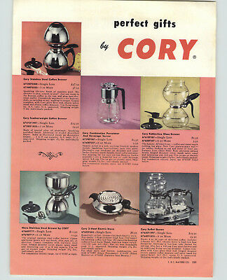 1961 PAPER AD 2 PG Georges Briard Service Ware Porcelainite Brass Hyalyn Glasses