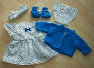 My First Baby Annabell/14 inch baby doll 5 Piece Blue Floral Dress Set (2)