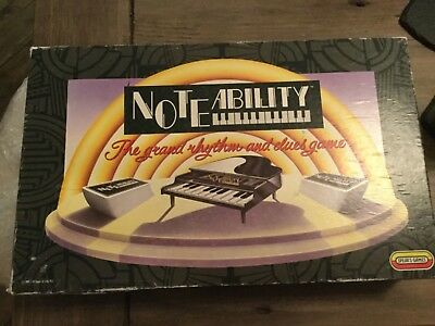 Noteability Fun Family Guess The Tune Board Game Spears COMPLETE 1991 VGC RARE
