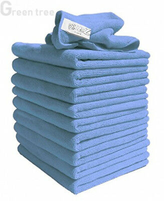 Exel Lint Free Microfibre Super Cleaning Cloths Washing Waxing Dusting Pack 10