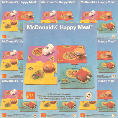 McDonalds Happy Meal Toy 1995 Plastic Food + Jigsaw Pieces Toys - Various