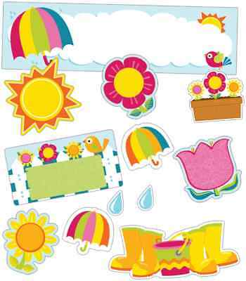 Cd 120177 Spring Mix April Showers May Flowers Bulletin Board
