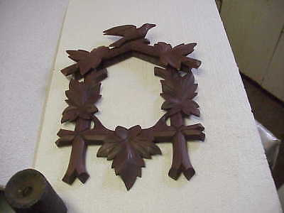 Vintage New Old Stock Cuckoo Clock Complete Top & Front Trim parts repair H