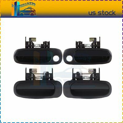 For 98-02 Corolla 4Pcs Door Handles  Black Exterior Right/Left Side Front&Rear