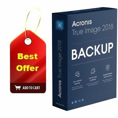 Acronis True Image 2018 (Not 2019) 3 Devices (Backup PC Mac Computer) - Key Code
